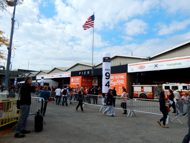 Outside the food festival on Pier 92